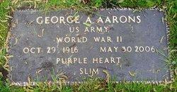 """George Allen """"Slim"""" Aarons"""