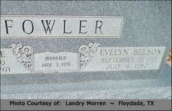 Evelyn <I>Beeson</I> Fowler