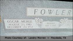 Oscar Merle Fowler