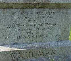 Alice E <I>Ross</I> Woodman