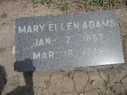 "Mary Ellen ""June"" <I>Jewell</I> Adams"