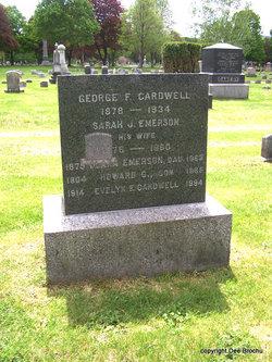 Sarah J <I>Emerson</I> Cardwell