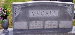 """Frances """"Pat"""" <I>McCall</I> Hunnicutt"""