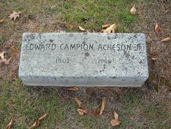 Rev Edward Campion Acheson, Jr