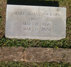 Mary Alma <I>Stockard</I> Bivins