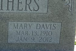Mary <I>Davis</I> Carothers