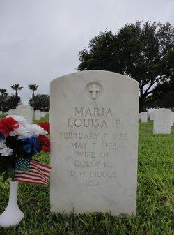 Maria Louisa <I>Peters</I> Biddle