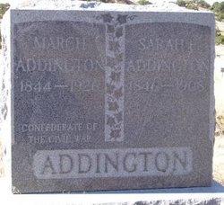Sarah E <I>Butt</I> Addington