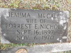 Jemima Franklin <I>McCalla</I> Nichols