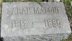 Sarah <I>Swank</I> Malone