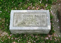 Edith Julia <I>Ballou</I> Higgins