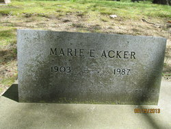 Marie Emma <I>Cranz</I> Acker