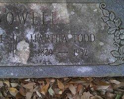 Martha C. <I>Todd</I> McDowell