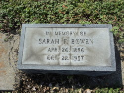 Sarah Francis <I>Lassiter</I> Bowen
