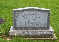 Marjorie K <I>Kiefer</I> Bartholomew