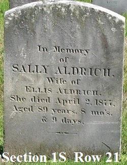 """Sarah """"Sally"""" <I>Persons</I> Aldrich"""