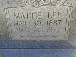 Mattie Lee <I>Brown</I> Bartlett