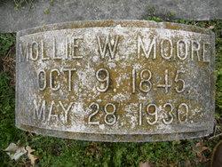 "Mary W ""Mollie"" <I>Phillips</I> Moore"