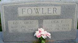 Ola Carter <I>Fowler</I> Fowler