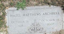Hazel Virginia <I>Matthews</I> Archbell