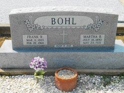 Martha Bertha <I>Ahrendt</I> Bohl