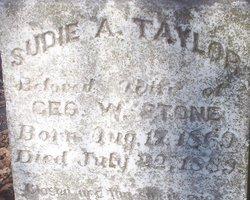 Sudie A. <I>Taylor</I> Stone