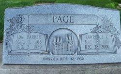 Ida Faye <I>Barber</I> Page