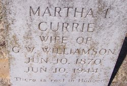 Martha Indianna <I>Currie</I> Williamson