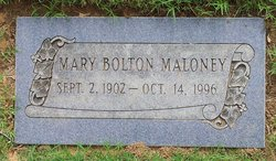 Mary <I>Bolton</I> Maloney