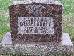 """Mary Ann """"Barbara"""" <I>Schmitt</I> Disselbrett"""