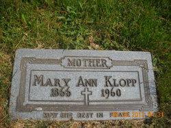 Marian Anne <I>Mannix</I> Klopp