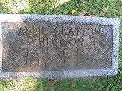 """Allen Clayton """"Allie"""" Hudson"""