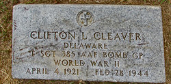 Sgt Clifton Leon Cleaver