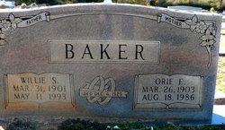 Willie S Baker