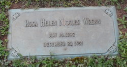 Rosa Helen <I>Nickles</I> Wrenn