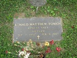 "PO Ronald Matthew ""Ron"" Tomich"
