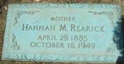 Hannah M <I>Weaver</I> Rearick
