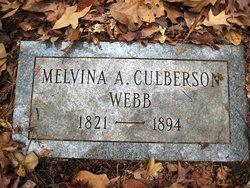 Melvina Amanda <I>Culberson</I> Webb