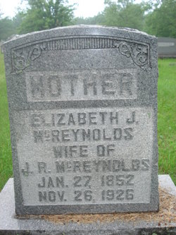 Elizabeth Jane <I>Porter</I> McReynolds