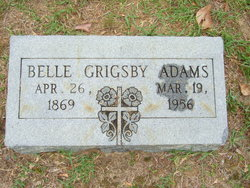 Belle <I>Grigsby</I> Adams