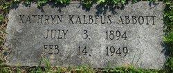Kathryn <I>Kalbfus</I> Abbott