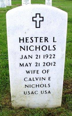 Hester Louise <I>Barrett</I> Nichols