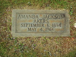 Amanda <I>Jackson</I> Akers