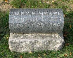 Mary <I>Hellenschmidt</I> Hekel
