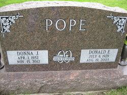 Donna Jean <I>Embury</I> Pope