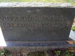 Mary Agnes <I>Hathcock</I> Billings