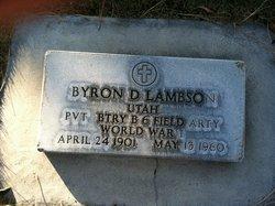 Byron D Lambson