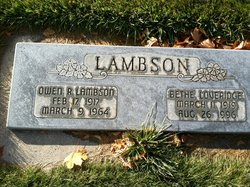 Bethe <I>Loveridge</I> Lambson