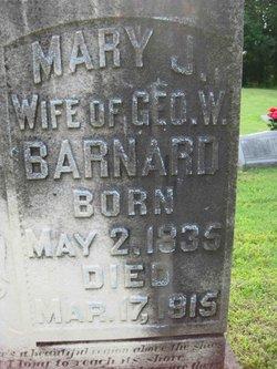 Mary Jane <I>Bennett</I> Barnard