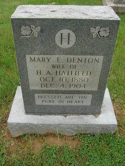 Mary E. <I>Denton</I> Hatfield